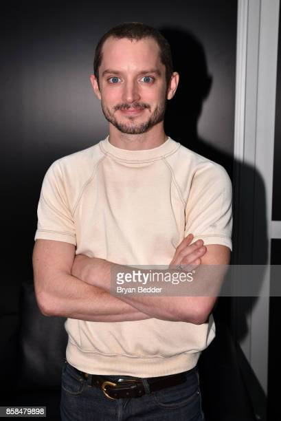 Actor Elijah Wood attend the New York Comic Con Live Stage in partnership with FANDOM and Twitch on October 6 2017 in New York City