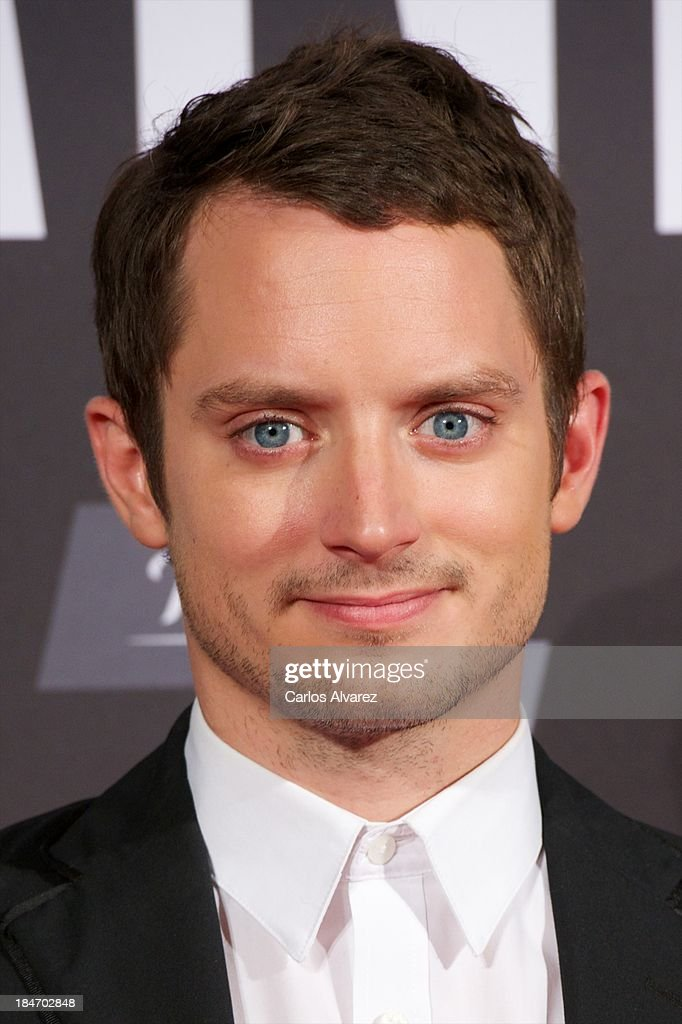 Actor <a gi-track='captionPersonalityLinkClicked' href=/galleries/search?phrase=Elijah+Wood&family=editorial&specificpeople=171364 ng-click='$event.stopPropagation()'>Elijah Wood</a> attends 'Grand Piano' premiere at the Callao cinema on October 15, 2013 in Madrid, Spain.