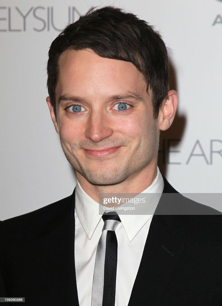Actor <a gi-track='captionPersonalityLinkClicked' href=/galleries/search?phrase=Elijah+Wood&family=editorial&specificpeople=171364 ng-click='$event.stopPropagation()'>Elijah Wood</a> attends the Art of Elysium's 6th Annual Black-tie Gala 'Heaven' at 2nd Street Tunnel on January 12, 2013 in Los Angeles, California.