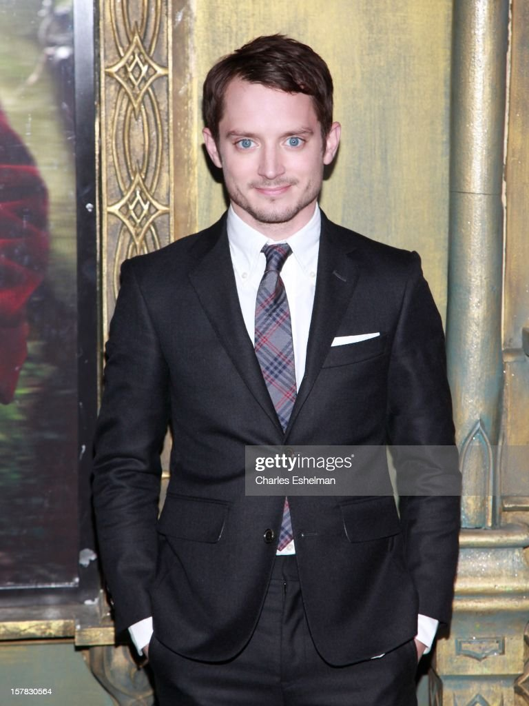 Actor <a gi-track='captionPersonalityLinkClicked' href=/galleries/search?phrase=Elijah+Wood&family=editorial&specificpeople=171364 ng-click='$event.stopPropagation()'>Elijah Wood</a> attends 'The Hobbit: An Unexpected Journey' premiere at the Ziegfeld Theater on December 6, 2012 in New York City.