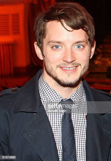 Actor Elijah Wood attends 'The Lord Of The Rings The Fellowship Of The Ring' concert at Radio City Music Hall on October 9 2009 in New York City