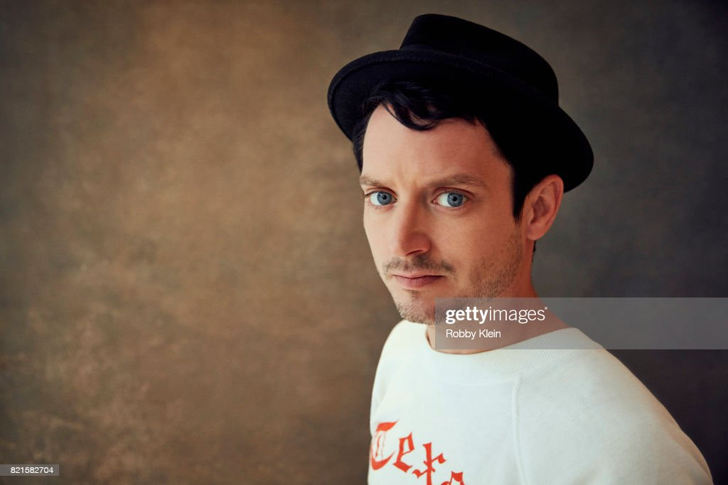 Actor Elijah Wood from BBC America's 'Dirk Gently's Holistic Detective Agency' poses for a portrait during Comic-Con 2017 at Hard Rock Hotel San Diego on July 22, 2017 in San Diego, California.