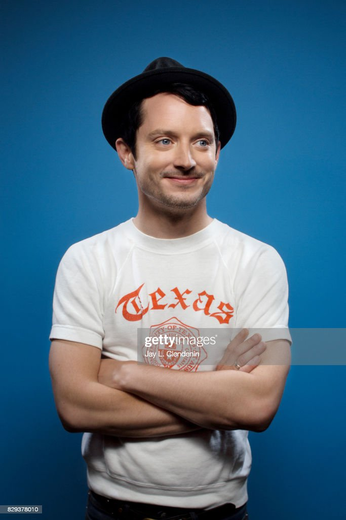 Actor Elijah Wood from the television series, 'Dirk Gently's Holistic Detective Agency,' is photographed in the L.A. Times photo studio at Comic-Con 2017, in San Diego, CA on July 22, 2017.