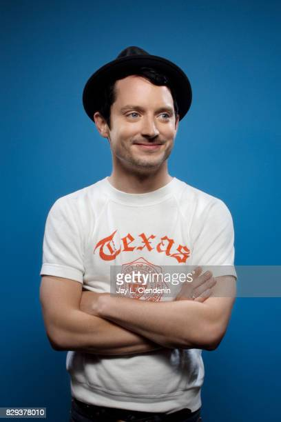 Actor Elijah Wood from the television series 'Dirk Gently's Holistic Detective Agency' is photographed in the LA Times photo studio at ComicCon 2017...