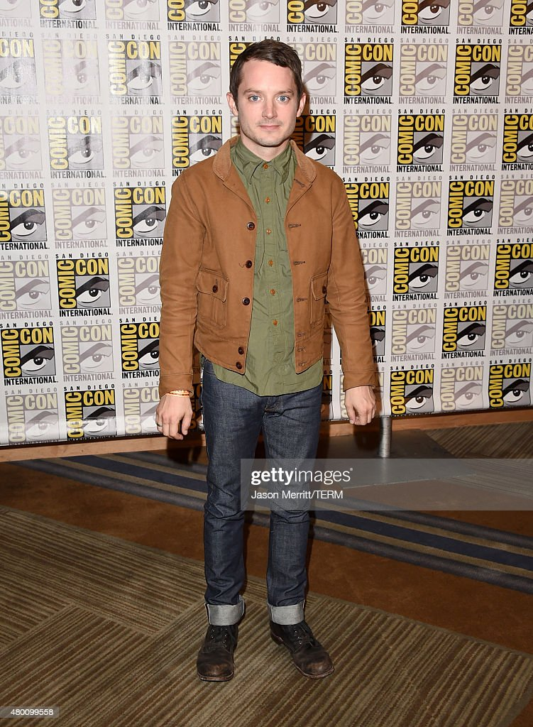 Actor Elijah Wood of 'The Last Witch Hunter' attends the Lionsgate press room during Comic-Con International 2015 at the Hilton Bayfront on July 9, 2015 in San Diego, California.