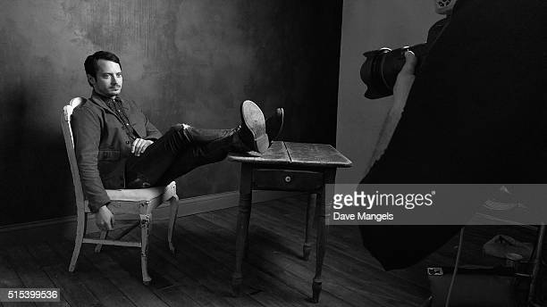 Actor Elijah Wood of 'The Trust' is seen behind the scenes in the Getty Images SXSW Portrait Studio powered by Samsung on March 13 2016 in Austin...