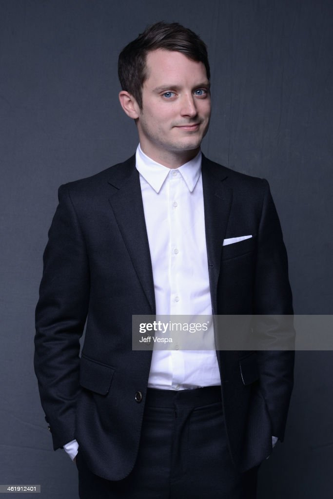 Actor Elijah Wood poses for a Wonderwall portrait at The Art of Elysium's 7th Annual HEAVEN Gala presented by MercedesBenz at Skirball Cultural...