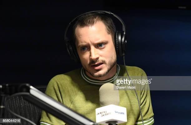 Actor Elijah Wood visits 'Jim Sam' at SiriusXM Studios on October 5 2017 in New York City
