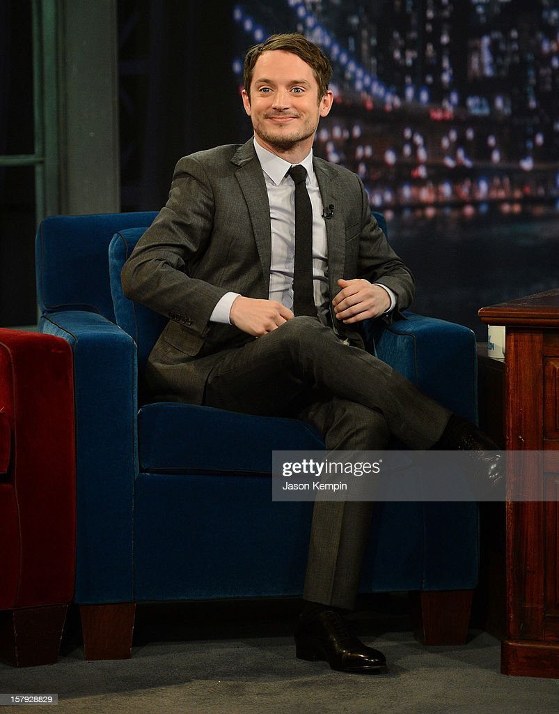 Actor Elijah Wood visits 'Late Night With Jimmy Fallon' at Rockefeller Center on December 7, 2012 in New York City.