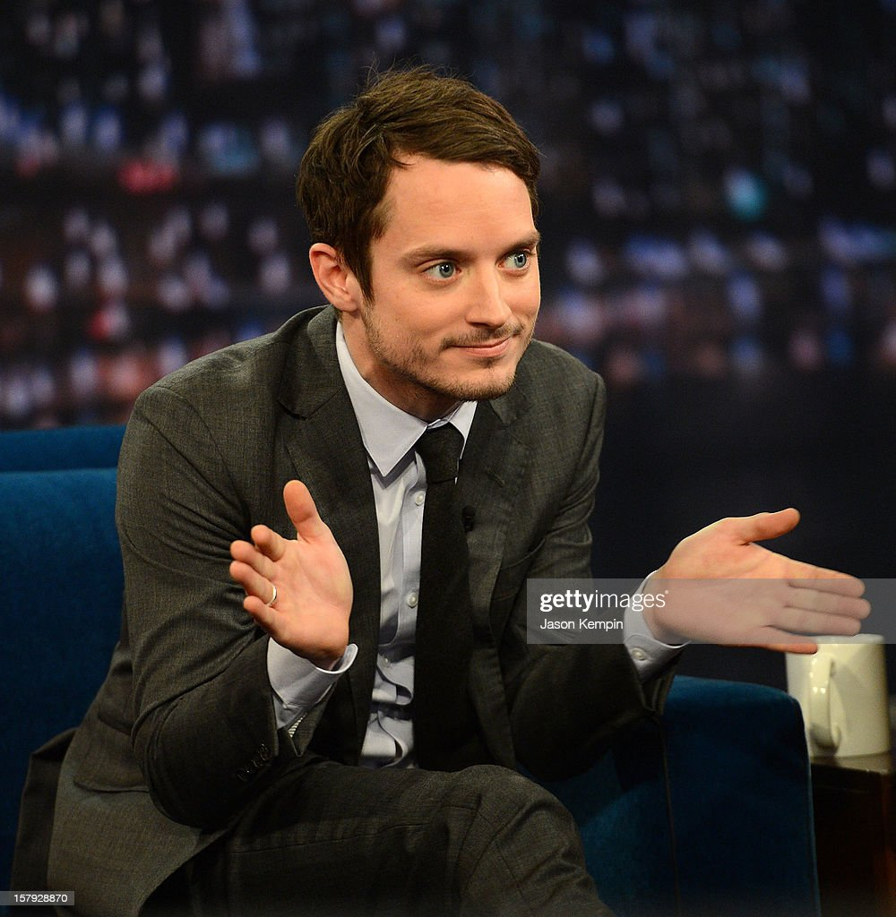 Actor <a gi-track='captionPersonalityLinkClicked' href=/galleries/search?phrase=Elijah+Wood&family=editorial&specificpeople=171364 ng-click='$event.stopPropagation()'>Elijah Wood</a> visits 'Late Night With Jimmy Fallon' at Rockefeller Center on December 7, 2012 in New York City.