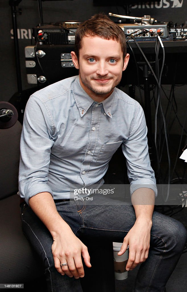Actor Elijah Wood visits the SiriusXM Studio on July 10, 2012 in New York City.