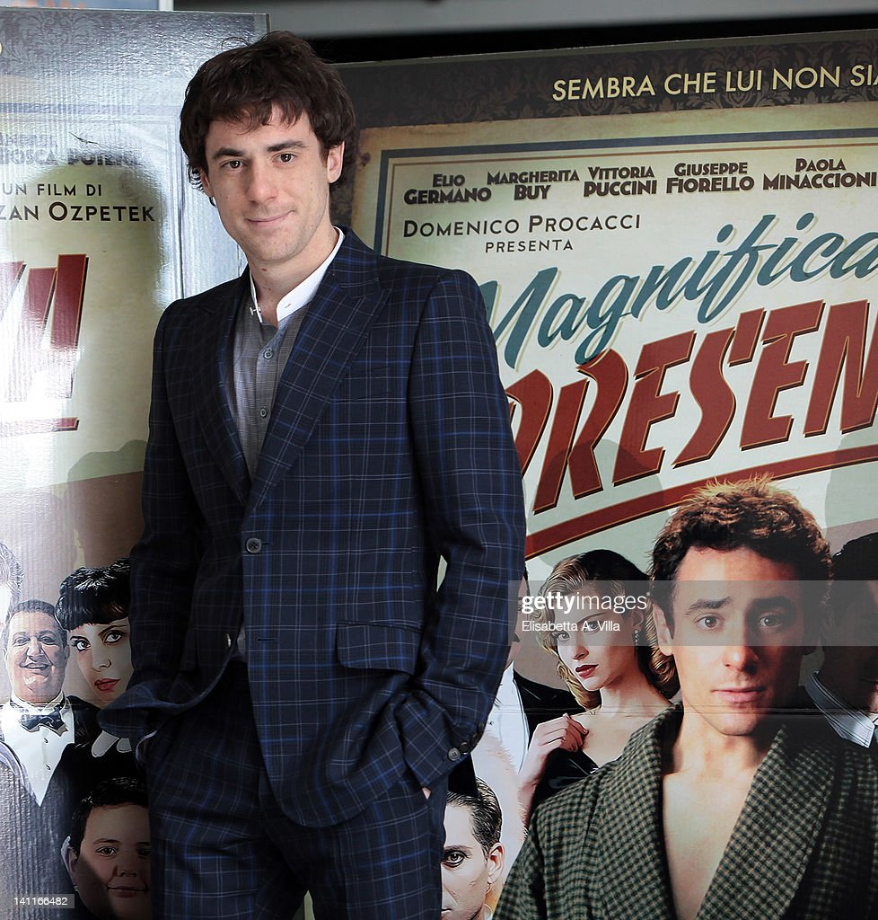 Actor Elio Germano attends 'Magnifica Presenza' photocall at Adriano Cinema on March 12, 2012 in Rome, Italy.