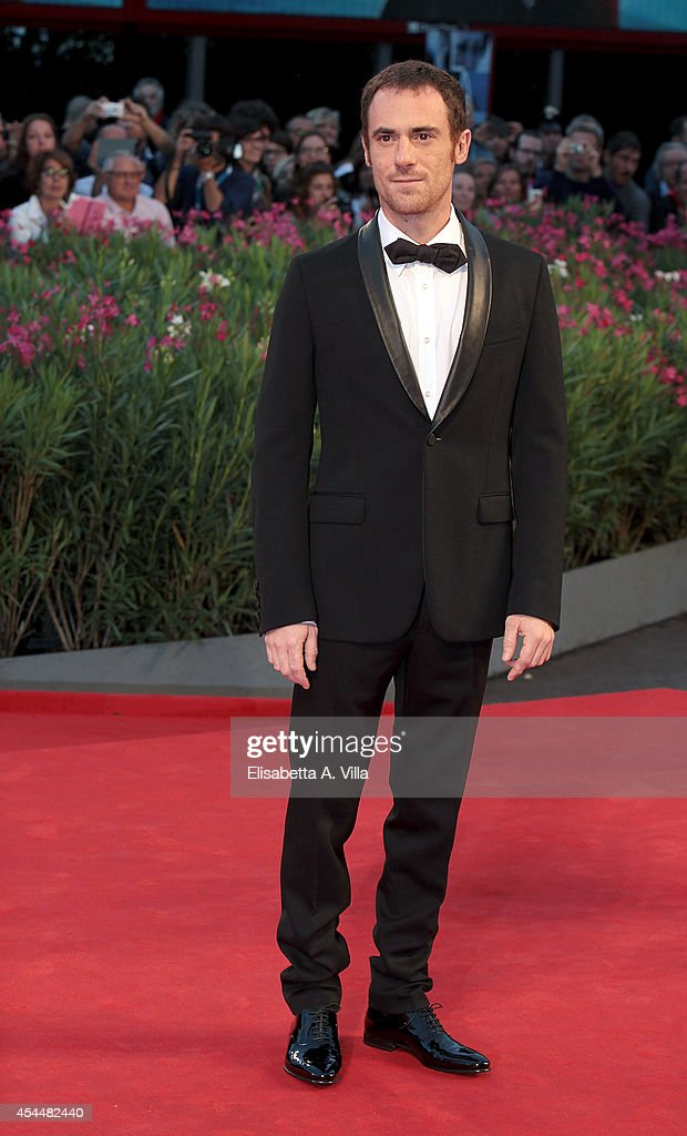 Actor <a gi-track='captionPersonalityLinkClicked' href=/galleries/search?phrase=Elio+Germano&family=editorial&specificpeople=2154181 ng-click='$event.stopPropagation()'>Elio Germano</a> attends the 'Il Giovane Favoloso' premiere during the 71st Venice Film Festival at Sala Grande on September 1, 2014 in Venice, Italy.