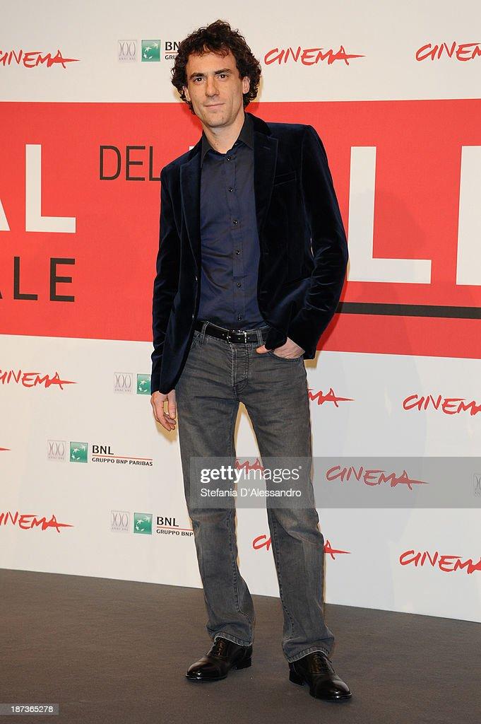 Actor Elio Germano attends the 'L'Ultima Ruota Del Carro' Photocall during the 8th Rome Film Festival at the Auditorium Parco Della Musica on...
