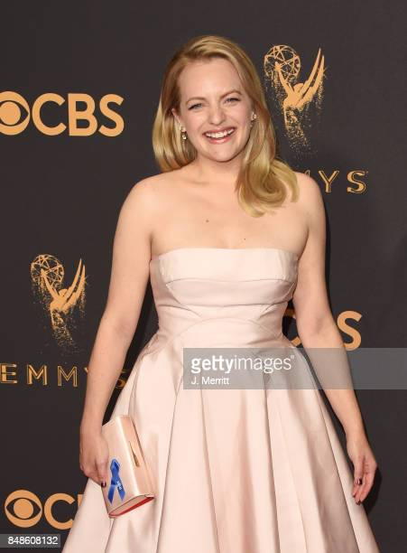Actor Elisabeth Moss attends the 69th Annual Primetime Emmy Awards at Microsoft Theater on September 17 2017 in Los Angeles California