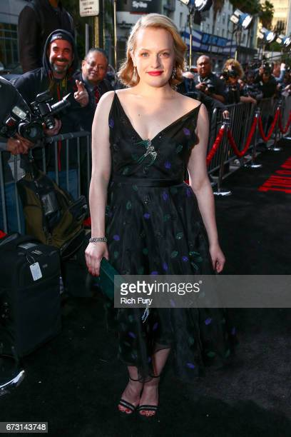 Actor Elisabeth Moss attends the premiere of Hulu's 'The Handmaid's Tale' at ArcLight Cinemas Cinerama Dome on April 25 2017 in Hollywood California