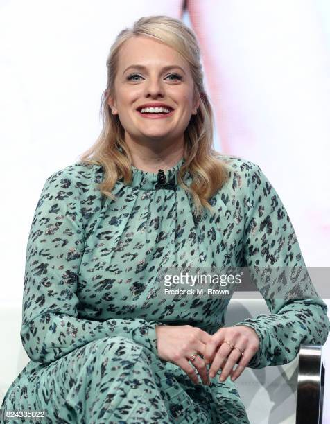 Actor Elisabeth Moss of 'Top of the Lake China Girl' speaks onstage during the SundanceTV portion of the 2017 Summer Television Critics Association...