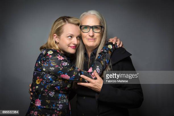 Actor Elisabeth Moss with film director Jane Campion are photographed for the Hollywood Reporter on May 24 2017 in Cannes France