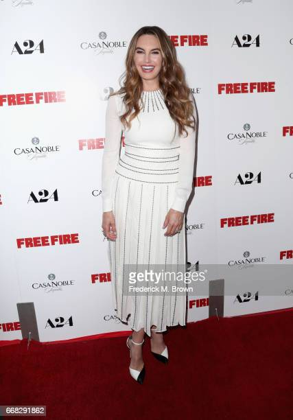 Actor Elizabeth Chambers attends the premiere of A24's 'Free Fire' at ArcLight Hollywood on April 13 2017 in Hollywood California
