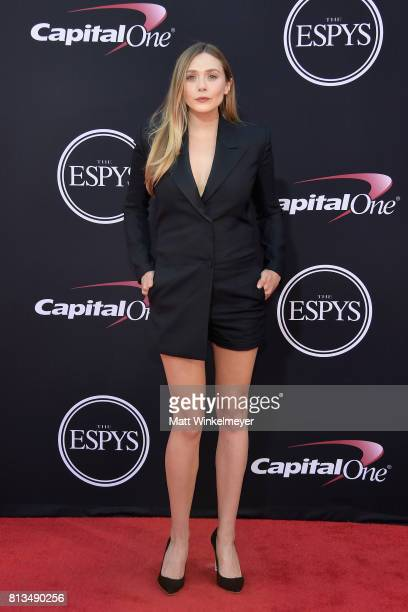 Actor Elizabeth Olsen attends The 2017 ESPYS at Microsoft Theater on July 12 2017 in Los Angeles California