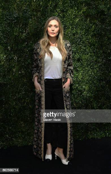 Actor Elizabeth Olsen attends Through Her Lens The Tribeca Chanel Women's Filmmaker Program Luncheon at Locanda Verde on October 17 2017 in New York...
