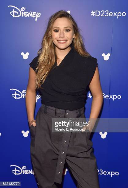 Actor Elizabeth Olsen of AVENGERS INFINITY WAR took part today in the Walt Disney Studios live action presentation at Disney's D23 EXPO 2017 in...