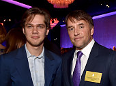 Actor Ellar Coltrane and director Richard Linklater attend the 87th Annual Academy Awards Nominee Luncheon at The Beverly Hilton Hotel on February 2...