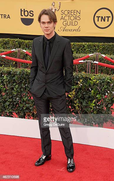 Actor Ellar Coltrane arrives at the 21st Annual Screen Actors Guild Awards at The Shrine Auditorium on January 25 2015 in Los Angeles California