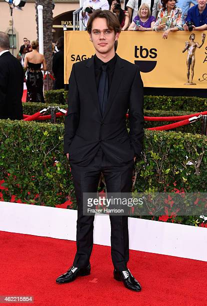 Actor Ellar Coltrane attends the 21st Annual Screen Actors Guild Awards at The Shrine Auditorium on January 25 2015 in Los Angeles California
