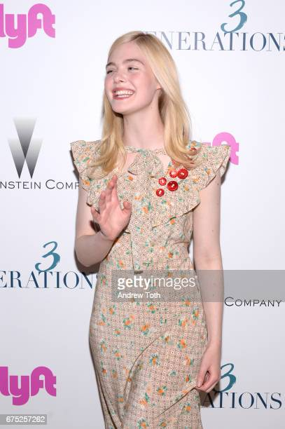 Actor Elle Fanning attends a screening of '3 Generations' hosted by The Weinstein Company at the Whitby Hotel on April 30 2017 in New York City