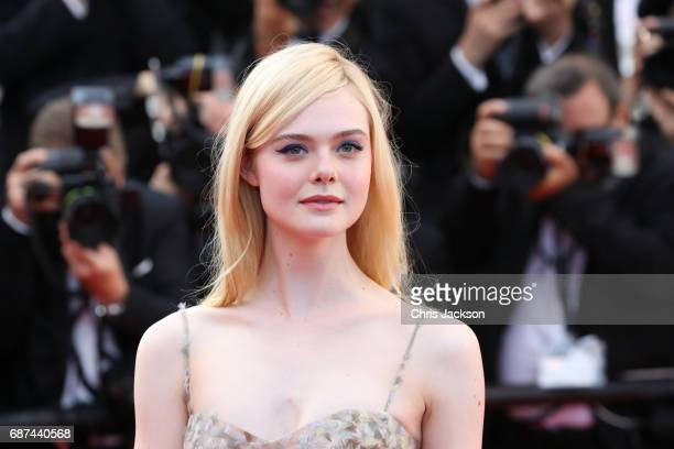 Actor Elle Fanning attends the 70th Anniversary of the 70th annual Cannes Film Festival at Palais des Festivals on May 23 2017 in Cannes France