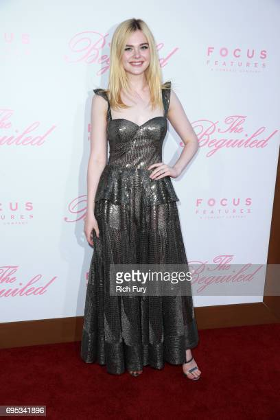 Actor Elle Fanning attends the premiere of Focus Features' 'The Beguiled' at the Directors Guild of America on June 12 2017 in Los Angeles California