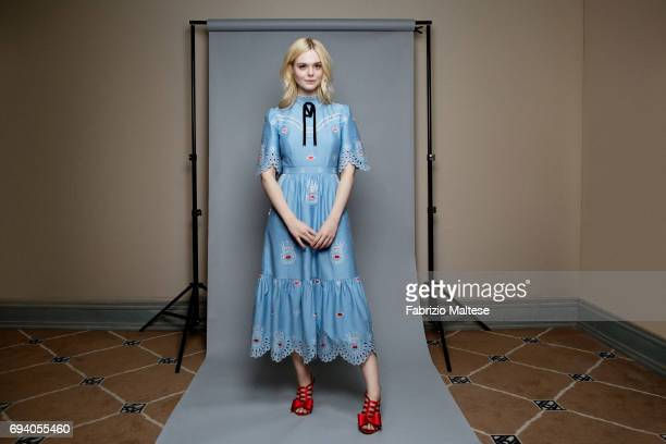 Actor Elle Fanning is photographed for the Hollywood Reporter on May 18 2017 in Cannes France