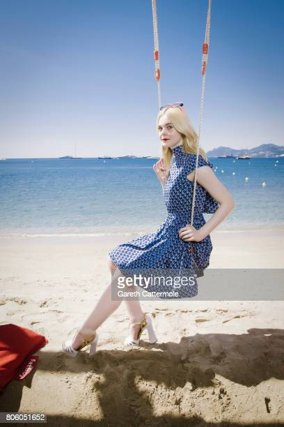 Actor Elle Fanning is photographed in Cannes France on May 17 2017