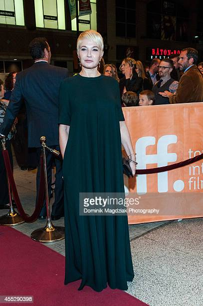 Actor Ellen Barkin attends 'The Cobbler' premiere during the Toronto International Film Festival at The Elgin on September 11 2014 in Toronto Canada