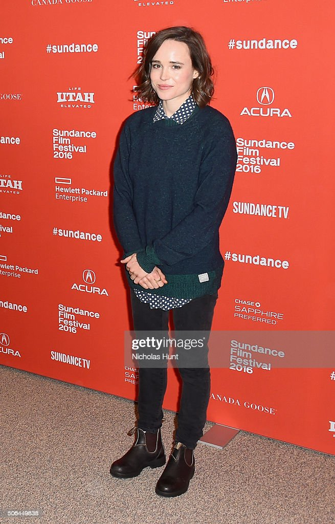 Actor Ellen Page attends 'Tallulah' Premiere during the 2016 Sundance Film Festival at Eccles Center Theatre on January 23 2016 in Park City Utah