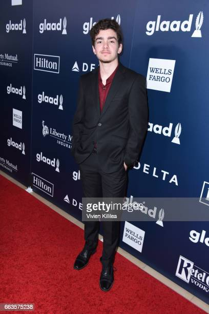 Actor Elliot Fletcher attends the 28th Annual GLAAD Media Awards in LA at The Beverly Hilton Hotel on April 1 2017 in Beverly Hills California