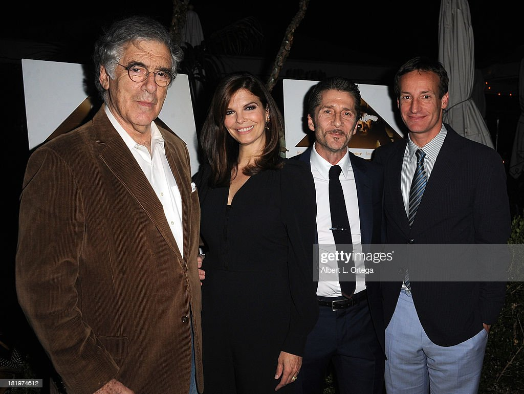 Actor Elliot Gould, actress <a gi-track='captionPersonalityLinkClicked' href=/galleries/search?phrase=Jeanne+Tripplehorn&family=editorial&specificpeople=584225 ng-click='$event.stopPropagation()'>Jeanne Tripplehorn</a> and actor/director <a gi-track='captionPersonalityLinkClicked' href=/galleries/search?phrase=Leland+Orser&family=editorial&specificpeople=711672 ng-click='$event.stopPropagation()'>Leland Orser</a> attend C Magazine Dinner And Reception Celebrating <a gi-track='captionPersonalityLinkClicked' href=/galleries/search?phrase=Leland+Orser&family=editorial&specificpeople=711672 ng-click='$event.stopPropagation()'>Leland Orser</a>'s 'Morning' held at Chateau Marmont on September 26, 2013 in West Hollywood, California.