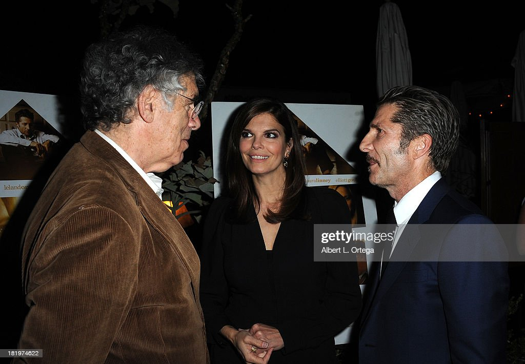 Actor Elliot Gould, actress Jeanne Tripplehorn and actor/director Leland Orser attend C Magazine Dinner And Reception Celebrating Leland Orser's 'Morning' held at Chateau Marmont on September 26, 2013 in West Hollywood, California.