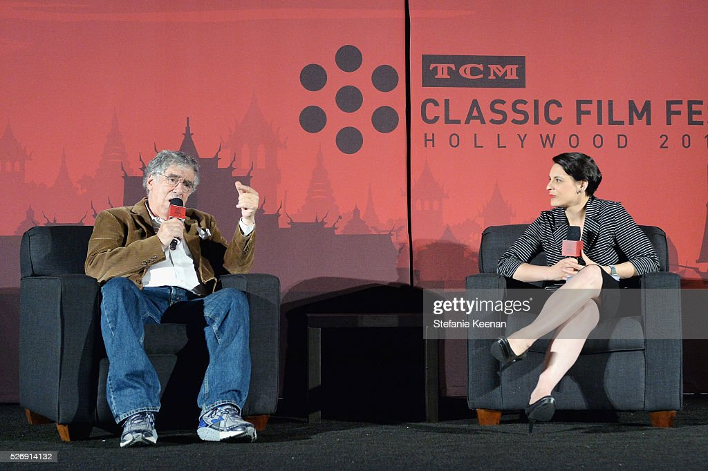 Actor Elliott Gould (L) and Hollywood Editor of New York Magazine & Vulture Stacey Wilson Hunt speak onstage at 'M*A*S*H' screening during day 4 of the TCM Classic Film Festival 2016 on May 1, 2016 in Los Angeles, California. 25826_005