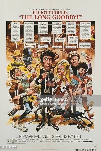 Actor Elliott Gould appears on the poster for the film 'The Long Goodbye' 1973 It was directed by Robert Altman