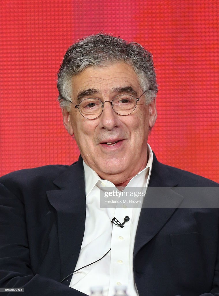Actor <a gi-track='captionPersonalityLinkClicked' href=/galleries/search?phrase=Elliott+Gould&family=editorial&specificpeople=213079 ng-click='$event.stopPropagation()'>Elliott Gould</a> of 'Ray Donovan' speaks onstage during the Showtime portion of the 2013 Winter TCA Tour at Langham Hotel on January 12, 2013 in Pasadena, California.