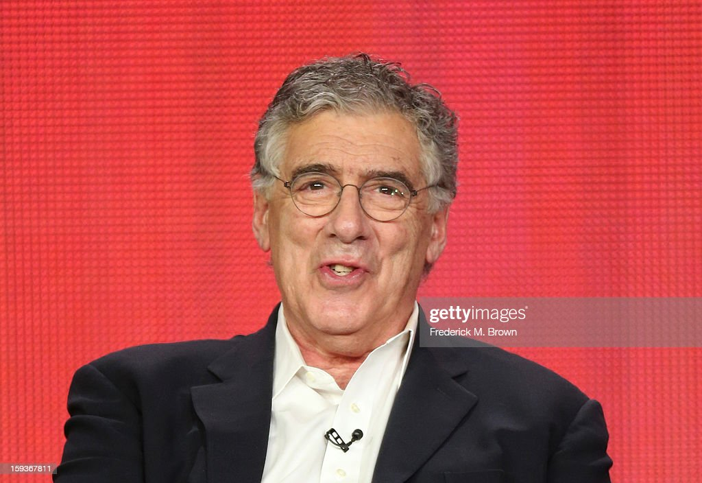 Actor Elliott Gould of 'Ray Donovan' speaks onstage during the Showtime portion of the 2013 Winter TCA Tour at Langham Hotel on January 12, 2013 in Pasadena, California.
