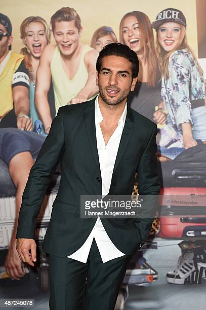Actor Elyas M'Barek attends the 'Fack ju Goehte 2' Munich Premiere at Mathaeser Filmpalast on September 7 2015 in Munich Germany