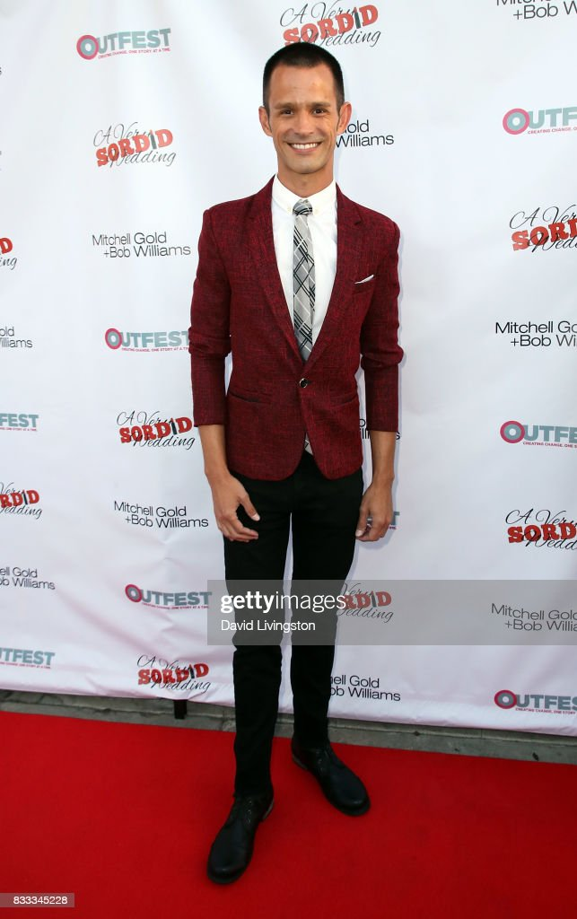 Actor Emerson Collins attends the premiere of Beard Collins Shores Productions' 'A Very Sordid Wedding' at Laemmle's Ahrya Fine Arts Theatre on August 16, 2017 in Beverly Hills, California.