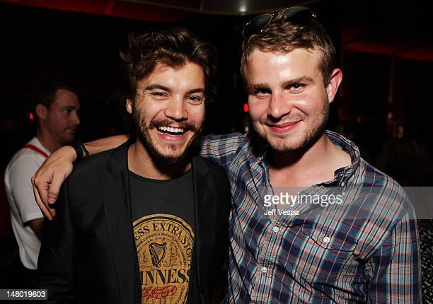 Actor Emile Hirsch and actor Brady Corbet attend the Fox Searchlight Pictures Belvedere Vodka And Vanity Fair Celebration of 'Martha Marcy May...