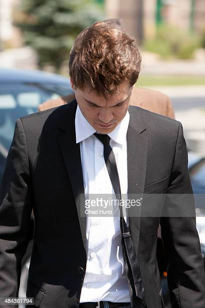 Actor Emile Hirsch appears in court on assault charges August 17 2015 in Park City Utah Hirsch made a plea deal for misdemeanor assault and has been...
