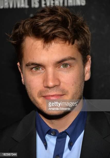 Actor Emile Hirsch arrive at the Los Angeles premiere of 'Captain Phillips' at the Academy of Motion Picture Arts and Sciences on September 30 2013...