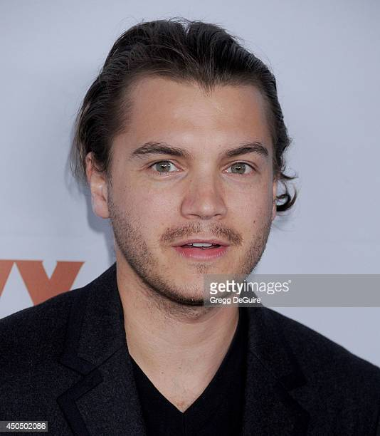 Actor Emile Hirsch arrives at the Pathway To The Cures For Breast Cancer event at Barkar Hangar on June 11 2014 in Santa Monica California