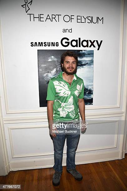 Actor Emile Hirsch attends an introduction to HEAVEN 2016 presented by The Art of Elysium and Samsung Galaxy on June 18 2015 in Los Angeles California